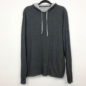 Vince Gray Pima Cotton Double Layer Sweatshirt L